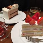ハーブス - ストロベリーケーキとチョコレートムース