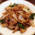 麗人飯店 - 豚肉の黒胡椒炒め