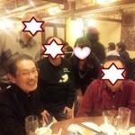 香港楼 - 左から、元顧問F先生、Y,B先輩、OG、T君。 先生は、音楽雑誌に登場してるので、顔出しOK、と思う。(撮影:おおお)w