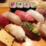 白雪鮨 - ランチ握り1.5人前(1000円)※シャリ少なめで注文