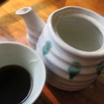 霧島そば處かわぐち - 蕎麦湯はサラサラ系。