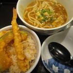 夢庵 - 2014年12月再訪・カレーうどん小天丼セット