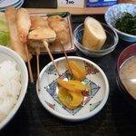 はしり亭(旬) - 移転前 串カツランチ 600円