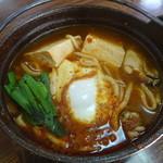 33871969 - 牡蠣と豆腐のチゲ鍋うどん