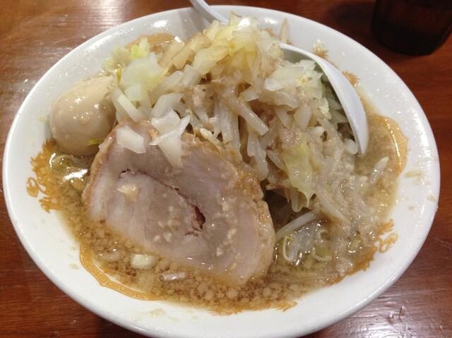 Kaeru - 味玉らーめん(脂、玉ねぎ)