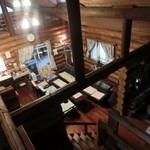 ログ喫茶・ペンションいずみが森 - 階段から