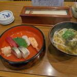 一朗 - そば定食(寿司)。