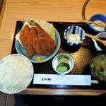 とみ好 - ミックスフライ定食