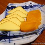 地酒とそば・京風おでん 三間堂 - 燻製たくあんクリームチーズ