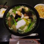 王居 - 海鮮タンメン+半チャーハン定食(ランチ)