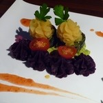 池袋 style - さつま芋と紫芋とピータンのアボガド巻き