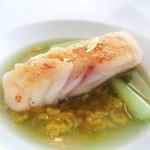 ハインツ・ベック - カレー風味のクロスタを纏った鱈 セロリのソース