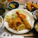満寿家 - ミックスフライ定食