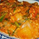 タイ料理 クルンテープ - ワタリ蟹のカレー炒めアップ!