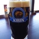 33902205 - 『キリン 黒生ビール』キリンの一番搾りの樽生スタウト!ロースト麦芽とカラメル麦芽を使用して作った ちょっと苦味があるが、呑みやすい香味の効いた黒生~♪(^o^)丿