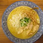 鶏の華 - 濃厚鶏白湯鶏そば(太麺)+刻み玉ねぎ 750円+0円
