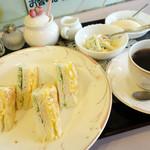 珈琲館けやき - 2013年3月 サンドイッチモーニング550円