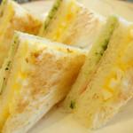 珈琲館けやき - 2013年3月 サンドイッチモーニング