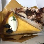 33904531 - チーズケーキ+栗のタルト(だったかな?)