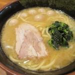 壱角家 - ラーメン+ウズラの卵5個 730円+0円