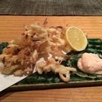 とろり - さきイカの天ぷら明太マヨネーズソース