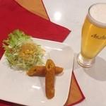 ◆Aセット(シークカバブ2P¥195+お好みの飲み物)