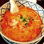 ライカノ - トムヤムクンラーメン ¥650. 麺はセンレクなどの米粉を使用 ☻ 2014/12訪問^ ^