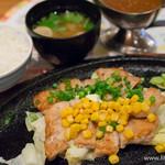 みのる食堂 - 北海道う米豚トンテキ+ごはんセット【2014年10月】
