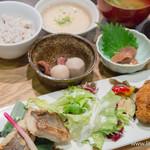 ごはんカフェ - 二種のおかず御膳・響【2014年10月】