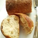 33921341 - 半分に切ったのはわさびのパン