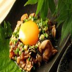 鶏ユッケ  540円 (税別)