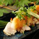 朝〆錦爽鶏もも卸ポン酢  540円(税別)