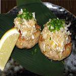胡麻葱塩鶏つくね~レモン添え~  480円(税別)