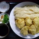 さぬき手打ち うどん屋晴れ - 鶏天ざる(H27.1.2)