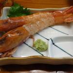 志摩磯料理かもめ家 - 赤えび刺身