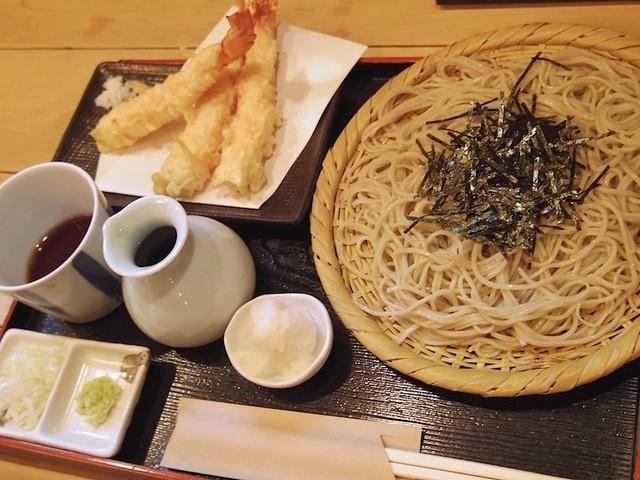 手打蕎麦 松永 - 海老天もり蕎麦