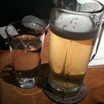 なっぱjuicy - ランチビール でかっ!