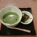 玉露園喫茶室 - 抹茶セット