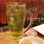 33930037 - 先ずは、緑茶ハイ(410円)で、一人乾杯♪