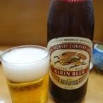 とんかつ山家 - (2014/11月)「瓶ビール」