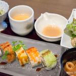 SHARI THE TOKYO SUSHI BAR - ロール寿司と竜田揚げ御膳【2014年11月】