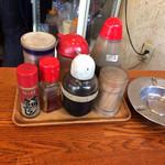 角屋食堂 - 卓上調味料
