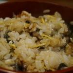33935043 - まぶし丼を新鮮でツンとした山葵とたっぷりのネギと混ぜるとこうなります