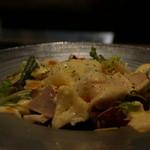 キッチン イトウ スタイル - 「富士の鶏」胸肉の低温蒸しのスモーク シーザースサラダ 1,600円