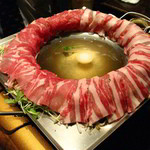 新九 栄本店 - ■炊鍋:名物!黒豚美人しゃぶしゃぶ鍋