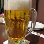 33940108 - サッポロ生ビール 中ジョッキ(800mL) ¥980-