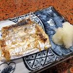 見晴旅館 - 夕食(タチウオの塩焼き)