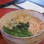 ひみ家 - 2-3)白海老かき揚げ丼セットのミニうどん