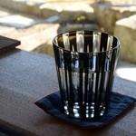 きむら屋 - 切子グラスのお水