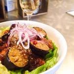 ダイニング バー ロイヤル - 鶏カラと茄子の酢味噌醤油丼